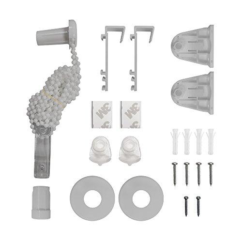 VICTORIA M Ersatzteil-Set komplettKlemmfix Doppelrollo, grau