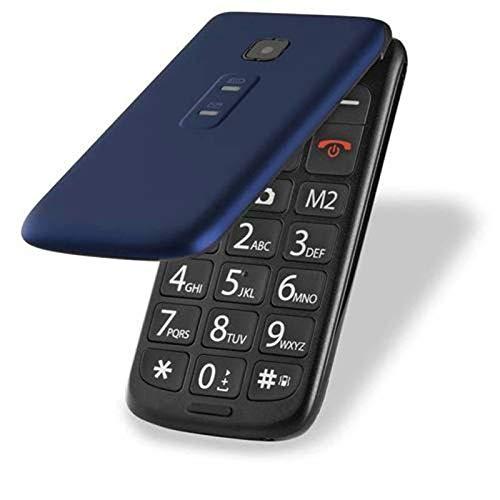 Celular De Idoso Azul Botao SOS Dual Chip MP3 SMS 32GB
