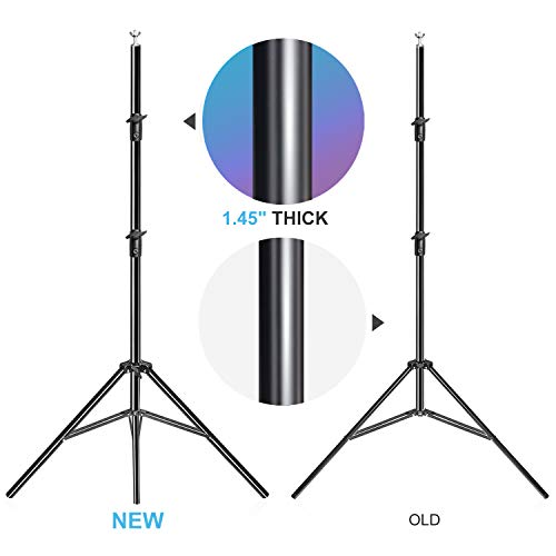 LimoStudio, 12 feet 5 inch (W) x 10 feet (H) Backdrop Muslin Support Structure System with 1.45 inch Thick Stable Pole, Carry Bag, AGG1782