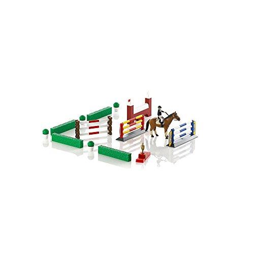 bruder 62530 - Großer Pferde-Springparcours mit Reiterin und Pferd