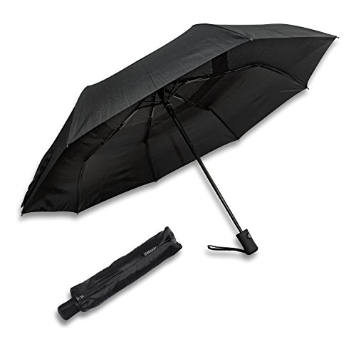 Schramm® Regenschirm automatisch klein Schirm Taschenschirm sturmsicher Auf-Zu Automatik Teflonbeschichtung