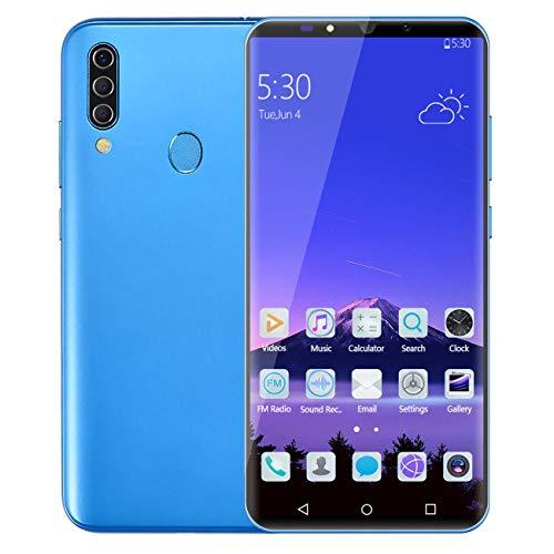 M30 6.0 Pulgadas Smartphone 512M + 4Gb ROM Dual Sim Teléfono móvil Desbloquear teléfono Teléfono Inteligente Alto Rendimiento (Azul)(JIO-S)