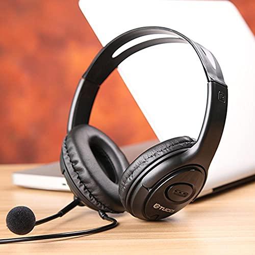 Xiauyu Auriculares Bluetooth sobre la oreja, auriculares estéreo de alta fidelidad, auriculares de proteína de memoria suave, micrófono incorporado y modo de cable para juego/PC/TV