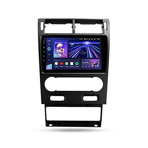 9' Android 10 Estéreo automóvil Bluetooth Para Ford Mondeo 3 2000-2007,Autoradio Soporte Wifi GPS Mirror-Link Mandos De Volante Cámara Trasera 3D Dinámica de conducción en tiempo real,Cc3,6+128G