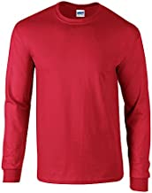 Gildan Ultra Cotton Adult Long Sleeve Tshirt - Red - XL
