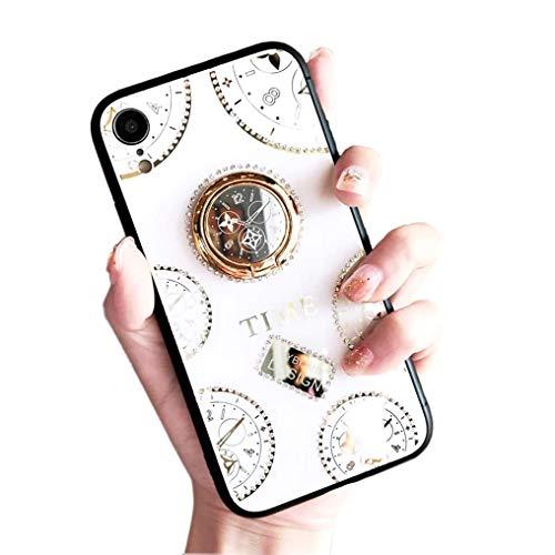 iPhone XS ケース iPhone X カバー アイフォンXS カバー iPhone X ケース リング キラキラ 懐中時計デザイン スマホケース ストラップ付き リング付き 360度調整 スタンド機能 携帯ケース 個性的 創意 時計柄 耐衝撃 滑り