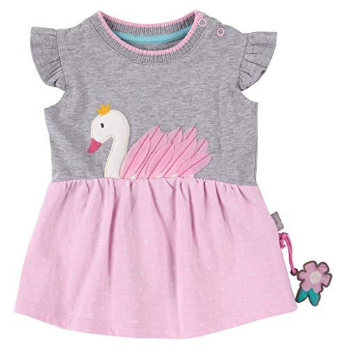 SIGIKID Baby - Mädchen Kleid Sommerkleid Kurzarm aus Bio-Baumwolle, abnehmbares Hangtoy, Blau, 62