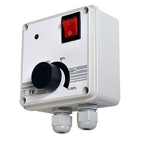 UZMAN Industrie Drehzahlregler 400 Watt Drehzahlsteuerung für Ventilator, Gebläse, Lüfter, Spannungsregler, Motor Elekromotoren, Schalter Dimmer, Dimmschalter 230 Volt