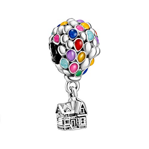 Pandora Disney Up 798962C01 - Colgante de casa y globos (11 x 23,5 x 11 mm), color plateado y multicolor