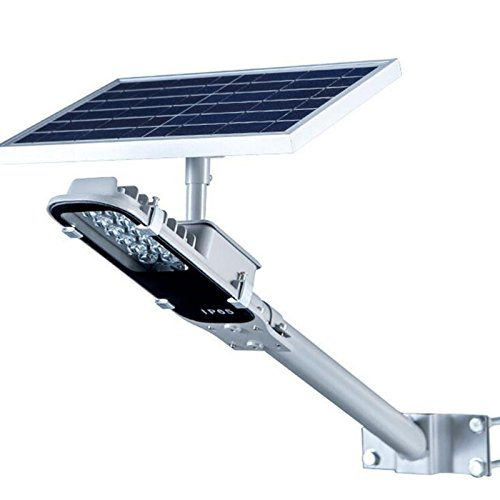 OOFAY LIGHT@ LED Lampione per Esterno Lampada Solare Antipioggia Pannello Fotovoltaico Batteria al Litio Esterno Luce di Sicurezza per Casa Giardino Strada Terrazza Patio 10W