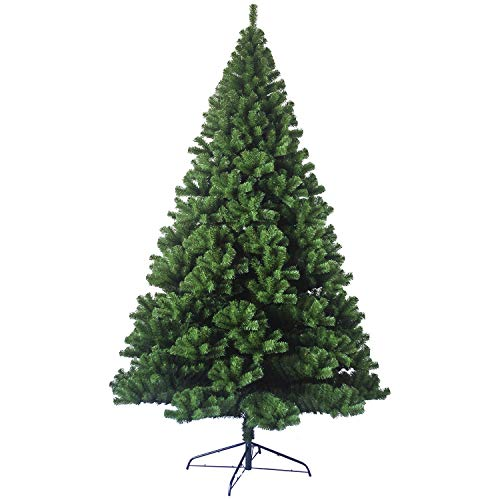 PRIME DEALS-Colorado Green Artificial Christmas Tree Large Pine Metal Stand Thick Tips Spruce Xmas Tree 5ft/6ft/7ft (7ft - (1000) Tips)