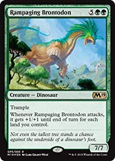 Magic: The Gathering - Rampaging Brontodon - Gift Pack 2018 - Unique and Miscellaneous Promo