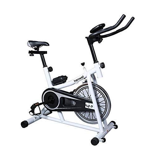 Bicicleta de ejercicio profesional para interiores - Transmisión por correa ultra silenciosa que adelgaza el equipo de ejercicios abdominales con dial digital electrónico para bicicleta deportiva
