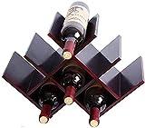 Estante de exhibición de Vino, Estante de Vino Tinto Estante de Vino de Madera Maciza Estante de Vino de Mariposa Estante de Botella de Vino