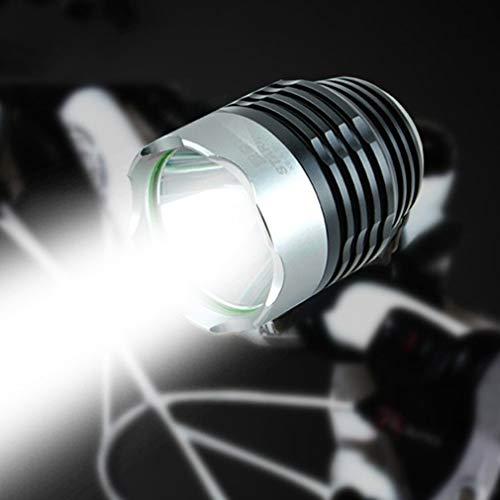 HNXCBH Seguridad de Alta Potencia de Las Luces de la Bicicleta de la Bici Delantera del Manillar Ciclismo Noche Faro Linterna Accesorios de la Bici Luces Bicicletas (Color : Natural)