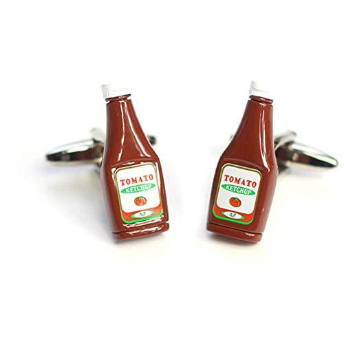 Ketchup-Manschettenknöpfe.