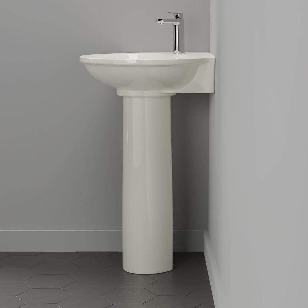 Buy Magnus Home Products Santee Vitreous China Corner Pedestal Bathroom Sink Single Hole White 23 1 2 L X 25 1 4 W 73 0 Lb Online In Turkey B08kzjjjpm
