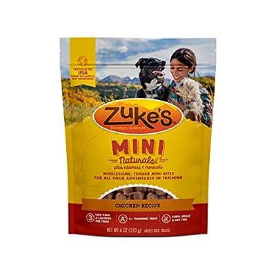Zuke's Natural Training Dog Treats; Mini Naturals Recipe; Made in USA Facilities, 6 oz, Chicken Recipe