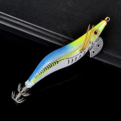 OPLKJ Richiamo di Pesca Esca Dura Esca di Legno di gamberetti Finti Esca di Pesca Wobbler Squid Jig Richiamo Artificiale 1pc / Lot Richiamo di Jigging Octopus Bait 624-MX-011,2g
