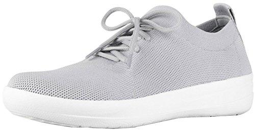 FitFlop Women's F-Sporty Uberknit Sneakers, Pearl, Size 8.5