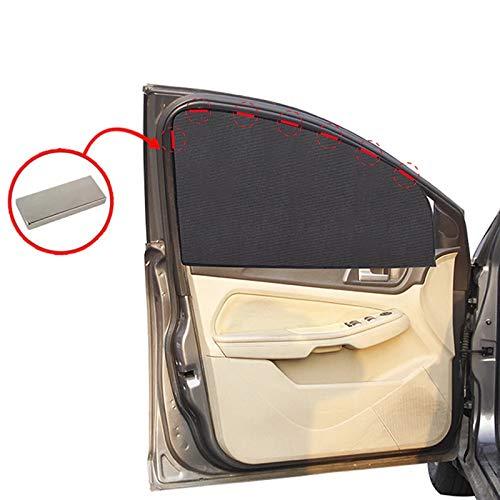 JHSHOP Parasol para Coche Coche magnético Sun Shade UV Protección de Coche Cortina de Coche Ventana de Coche Sombrilla Lateral Ventana Malla Sun Visor Protección de Verano Película Sombrilla