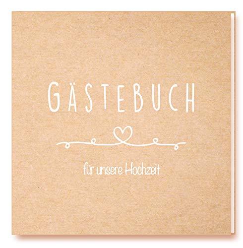 Edition Seidel Premium Gästebuch zur Hochzeit - Hochwertiges Hardcover-Buch mit 144 weißen Seiten...