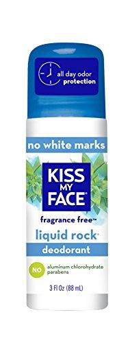 Kiss My Face Liquid Rock Roll-On Deodorant, Fragrance Free, 3 oz (1900371)