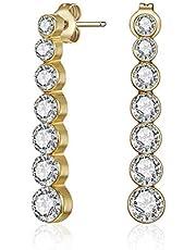 Mestige MSER3310 Women's Gold Plated Crystals Stud Earrings