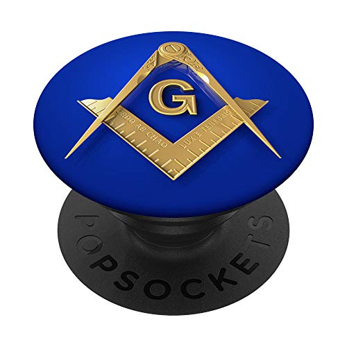 Masonic Square & Compass Freemason Lodge Emblem PopSockets PopGrip: Swappable Grip for Phones & Tablets
