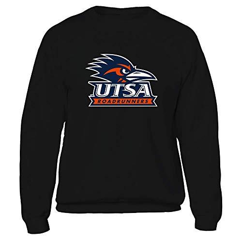 FanPrint UTSA Roadrunners T-Shirt - Big Logo, Herren, Sweatshirt mit Rundhalsausschnitt, Schwarz, Small