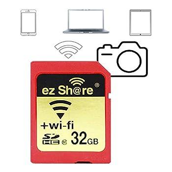 ez Share 32 GB Adapter WiFi SDHC Card Class10 SD Card Wireless Camera Memory Card for Camera