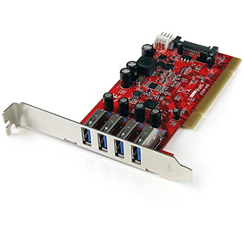 StarTech.com 4 Port USB 3.0 PCI Schnittstellenkarte - PCI SuperSpeed USB 3.0 Controller Karte - 2 x USB3.0 (Buchse) je 1x SATA/SP4 intern