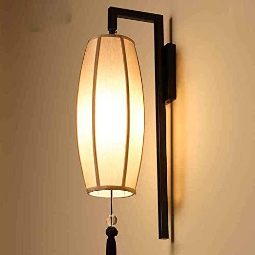 Chenbz Creativas de la pared retro moderno chino de lino lámpara de pared de pantalla, dormitorio lámpara de cabecera de escaleras luces del pasillo luces del pasillo de las luces de la pared