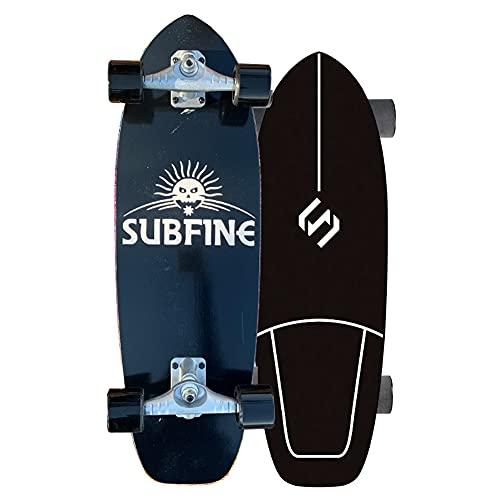 Cruiser Skateboard Monopatín Completo Carving Skate para Niños Principiantes Adolescentes Adultos Retro Skate Board 7 Capas de Madera de Arce Deck para Rampas y carriles, CX4 Trucks, 75CM