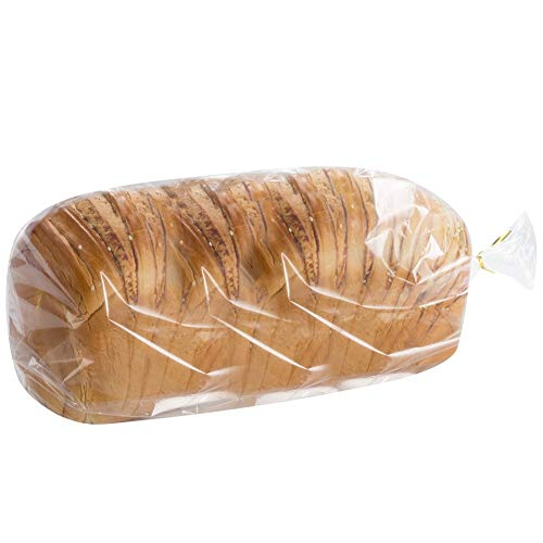 200 count Belinlen Bread Loaf Bags With Free Twist Ties (200 Pack)