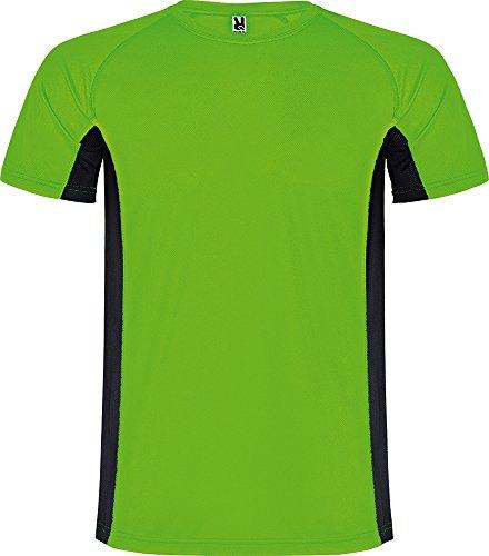Camiseta 6595 Shanghai Hombre - Verde Fluor/Negro 22202 - XL