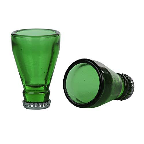 Monsterzeug Shot Gläser 2er Set, 5 cl Schnapsgläser im Bierflaschen Design, Geschenkidee für Männer, Vatertagsgeschenk