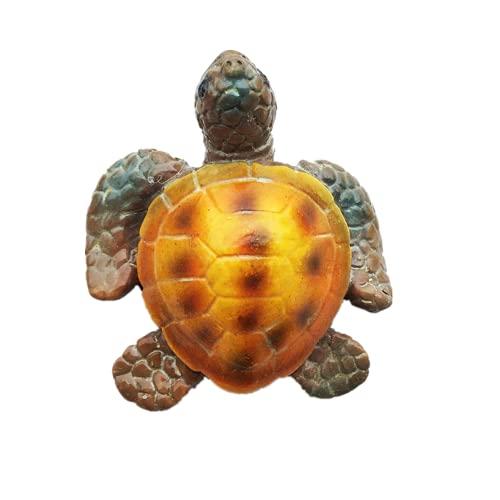 Imán para nevera en 3D con diseño de tortuga marina, Maldivas Bali Jamaica Bahamas Grecia