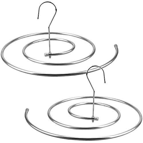 YFXD 2セッ シーツ用ループハンガー ハンガー ベッドシーツ ハンガー 螺旋式ステンレス鋼乾燥ラックブランケット ラック 室内干し洗濯物干し 布団干し 滑り止め 変形にくい 超強い荷重 乾湿両用 ハンガー便利 省スペース 丈夫 収納 錆びに