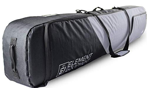 Element Equipment Deluxe Padded Snowboard Bag - Premium High End Travel Bag Grey Ripstop 157