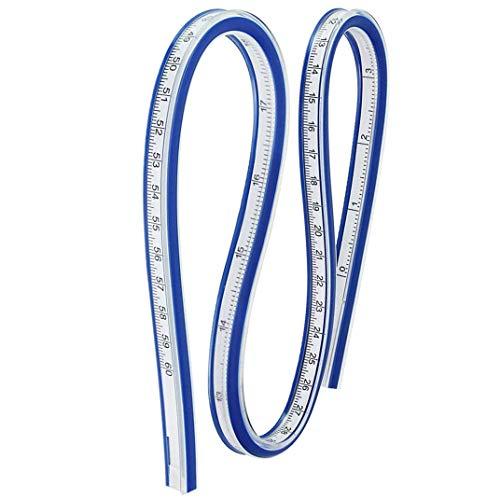 Flexibles Kurvenlineal, 60 cm, Kunststoff, kreatives Lineal, Messwerkzeug für Büro oder Schule
