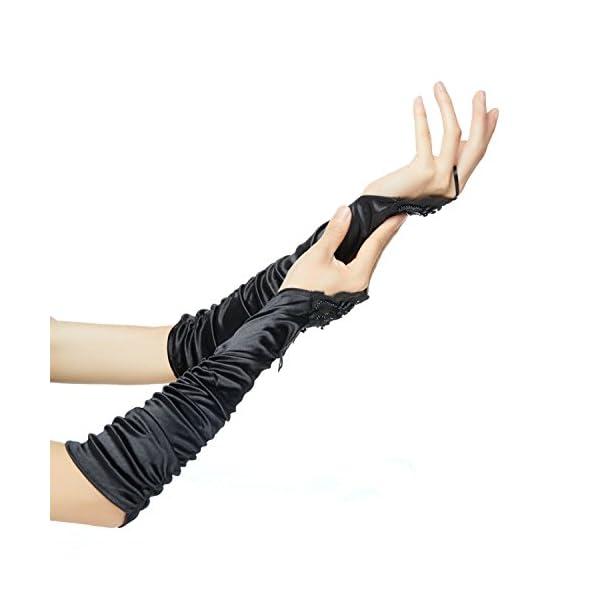 1920s Opera Satin Long Gloves 19.5″ Elbow Length,12BL