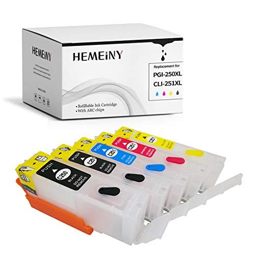 5unidades PGI-250CLI-251cartucho de tinta vacíos y rellenables para MG5420IP7220MX722MX922MG5520MG6420MG5620MG6620MG5522iX6820impresoras láser de tinta vacío