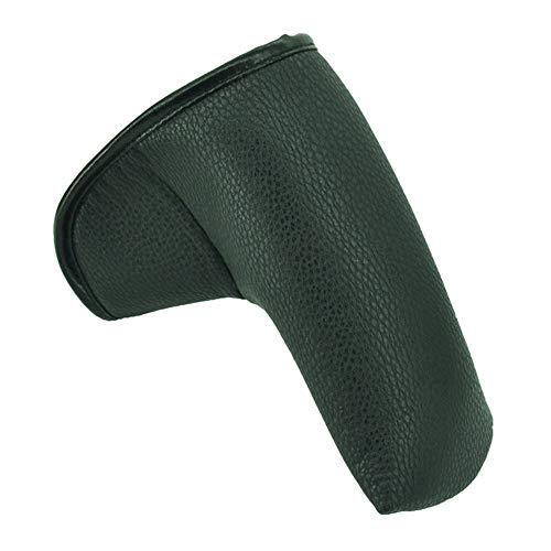 Dfghbn Golf Club Covers Schwarz Rot Golf Club Abdeckung PU-Leder-Composite-Golf-Eisen-Hat-Abdeckung Putter Bezug-Set Golf Kopfhauben (Farbe : Black, Size : One Size)