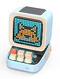 Divoom DitooポータブルBluetoothスピーカー3.55インチLEDスクリーンピクセルディスプレイ、DSPワイヤレススピーカーAPPコントロール、オーディオHD、メカニカルキーボード、ポートマイクロSD、青