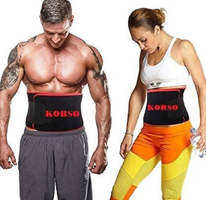 Korso Waistcincher Sweat Belt   Pack of 2   Multicolor Pink