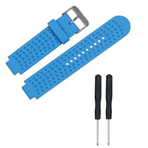 MiSha Correas de Reloj, Banda de Repuesto de Silicona con Herramientas para Garmin Forerunner 25, Azul