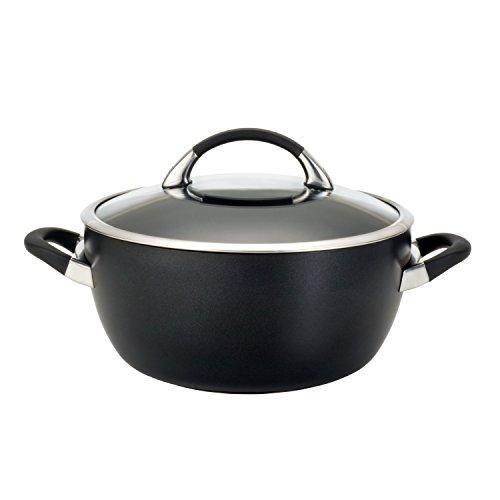 Circulon Symmetry Hard Anodized Nonstick Casserole Dish/Casserole Pan with Lid - 5.5 Quart, Black