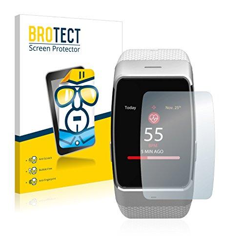 BROTECT Schutzfolie kompatibel mit MyKronoz ZeWatch 4 HR (2 Stück) klare Bildschirmschutz-Folie
