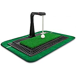 Use any club-woods or irons | Swing Exerciser with Actual hitting and 3 levels of height adjustable | Golf ball parts can be replaced | No battery needed Preventing Head-up: It knows possible the swing trajectory without looking at the direction in w...